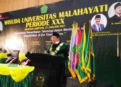 Mewisuda 591 Mahasiswa, Rektor Universitas Malahayati Mengajak Tenaga Pendidik dan Lulusan Matang Teknologi di Era Tatanan Baru